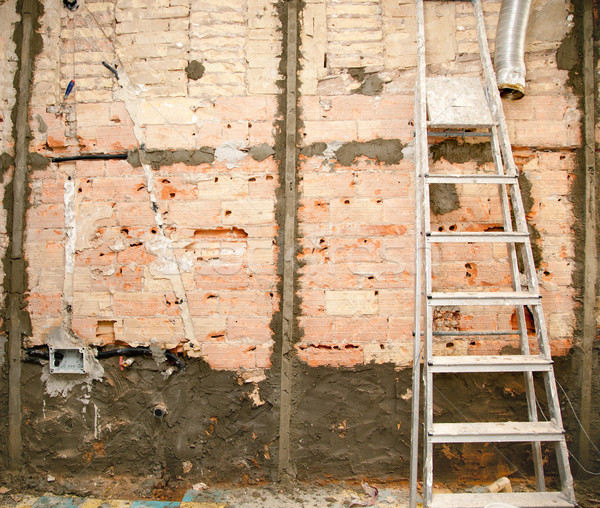 demolition before tiling in kitchen interior works Stock photo © lunamarina