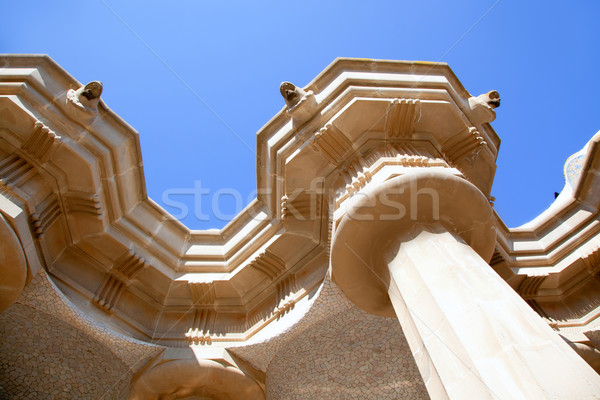 сто колонн Барселона парка небе искусства Сток-фото © lunamarina