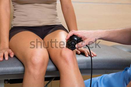 mesotherapy gun therapy for cellulite doctor with woman Stock photo © lunamarina