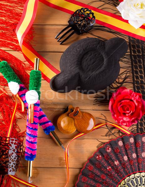 Torero flamenco típico España sombrero peine Foto stock © lunamarina