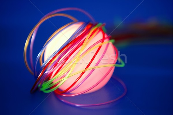 Glowing sphere with colorful wires such a wired communication  Stock photo © lunamarina