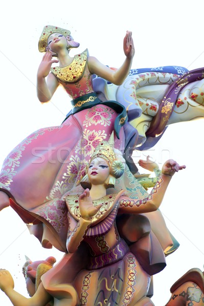 Fallas from Valencia, Spain celebration cartoon figures Stock photo © lunamarina