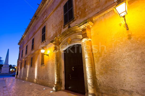 Ciutadella Menorca Major street in downtown Ciudadela Stock photo © lunamarina