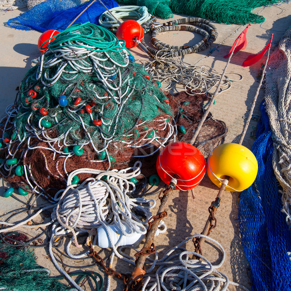 Formentera Balearic Islands fishing tackle nets longliner Stock photo © lunamarina