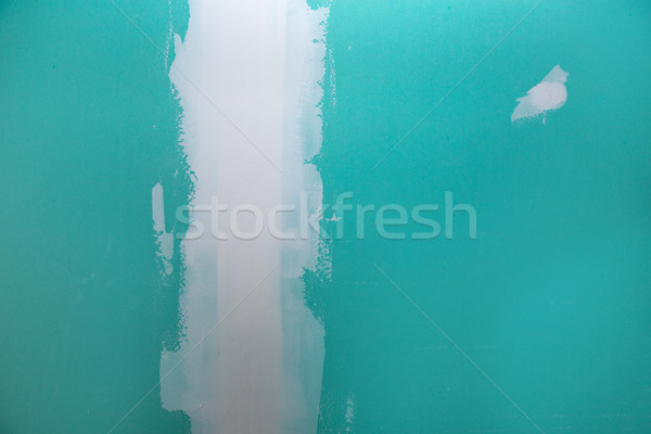 drywall hydrophobic plasterboard in green plaste seam Stock photo © lunamarina
