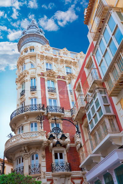 Cartagena Gran Hotel Art Noveau in Murcia Spain Stock photo © lunamarina