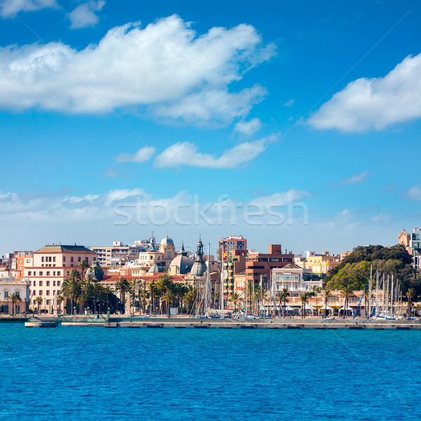 Cartagena skyline Murcia at Mediterranean Spain Stock photo © lunamarina