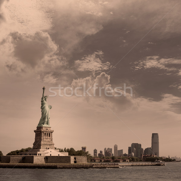 Statue of Liberty New York and Manhattan USA Stock photo © lunamarina