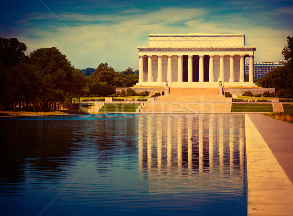 Abraham Lincoln Memorial reflection pool Washington Stock photo © lunamarina