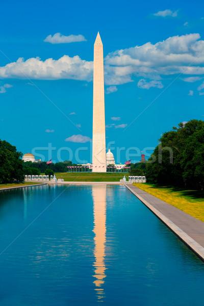 Washington Monument reflecting pool in USA Stock photo © lunamarina