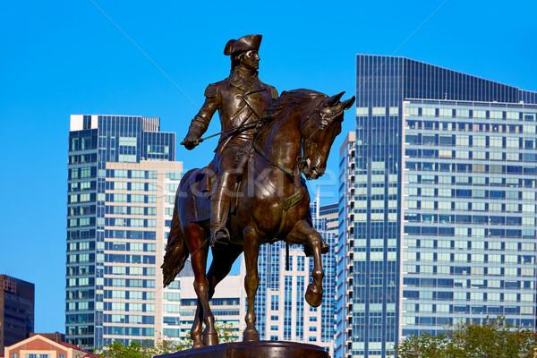 Boston Washington Monument Massachusetts USA paard oorlog Stockfoto © lunamarina