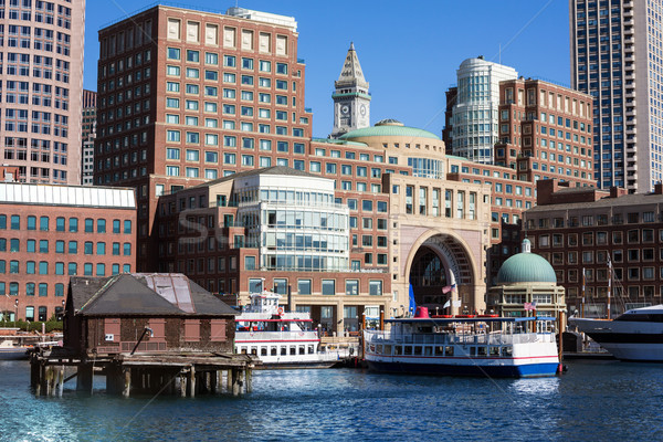 Boston Massachusetts USA business gebouw reizen Stockfoto © lunamarina