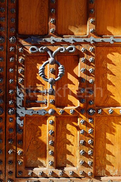 Casa de los Condestables door house in Burgos Stock photo © lunamarina