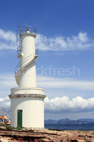 La Savina port lighthouse Formentera Stock photo © lunamarina