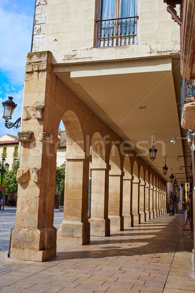 Way Saint James Logrono Arcades Mercado plaza Stock photo © lunamarina