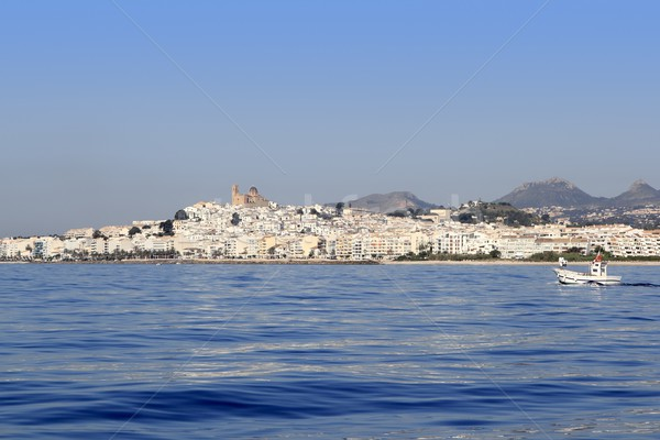 Altea from blue sea Mediterranean white village Stock photo © lunamarina