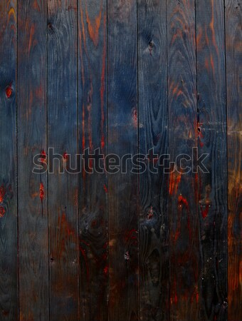 Burned wood board fence texture background Stock photo © lunamarina