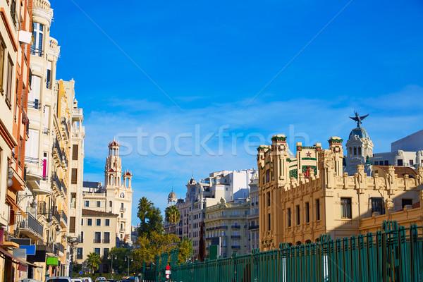 Валенсия город железнодорожная станция Испания улице здании Сток-фото © lunamarina
