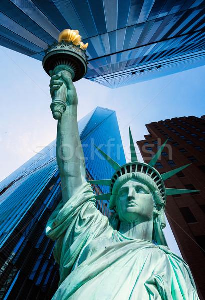 Liberty Statue and skyscrapers New York Stock photo © lunamarina