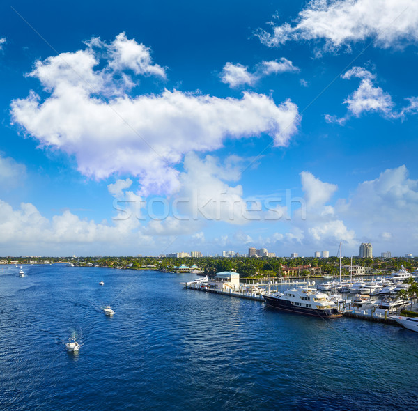 Fort Lauderdale Stranahan river at A1A Florida Stock photo © lunamarina