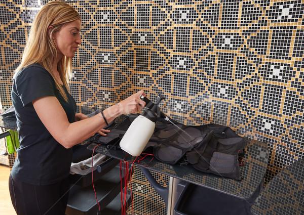EMS electro stimulation suit wet cleaning Stock photo © lunamarina