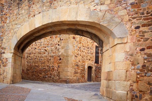 Caceres Arco de la Estrella arch in Spain Stock photo © lunamarina