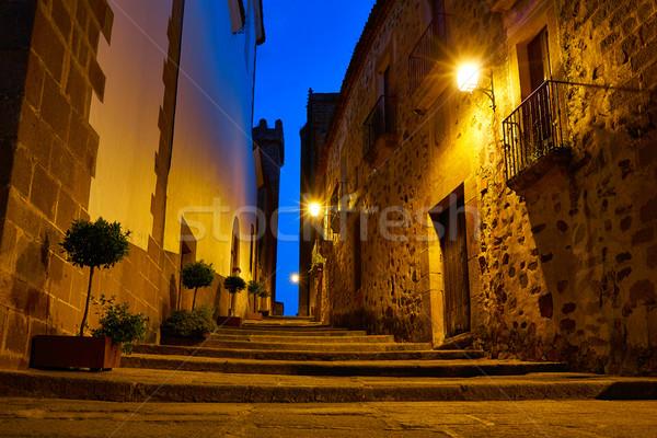 モニュメンタル 市 スペイン 日没 建物 建設 ストックフォト © lunamarina