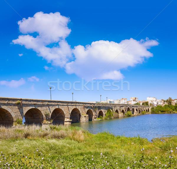 Merida in Spain entrance roman bridge Stock photo © lunamarina