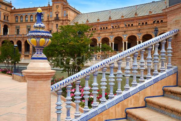 スペイン セラミック 広場 建物 旅行 アーキテクチャ ストックフォト © lunamarina