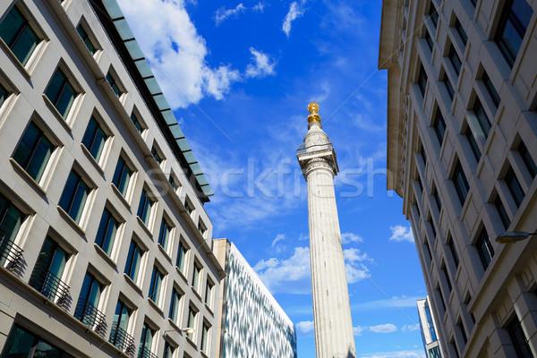 Londres magnifique feu colonne Angleterre bâtiment Photo stock © lunamarina