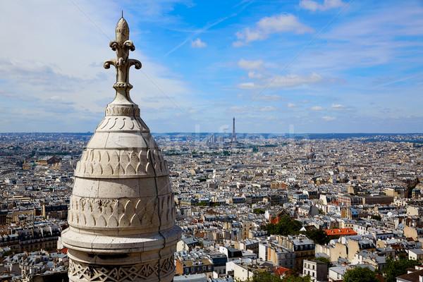 Сток-фото: Париж · Skyline · Монмартр · Франция · город · синий