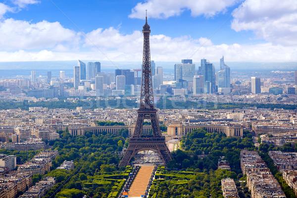 Paris Torre Eiffel linha do horizonte França Foto stock © lunamarina