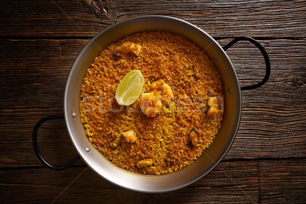 Riz recette deux alimentaire poulet dîner Photo stock © lunamarina