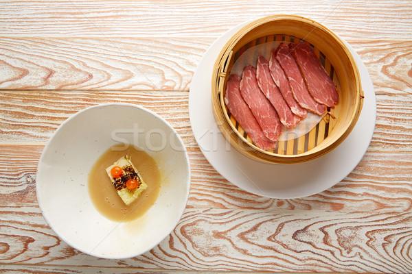 Carne di maiale prosciutto salsa cavolo spezzatino alimentare Foto d'archivio © lunamarina