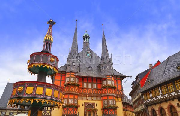 Wernigerode Rathaus Stadt city hall Harz Germany Stock photo © lunamarina