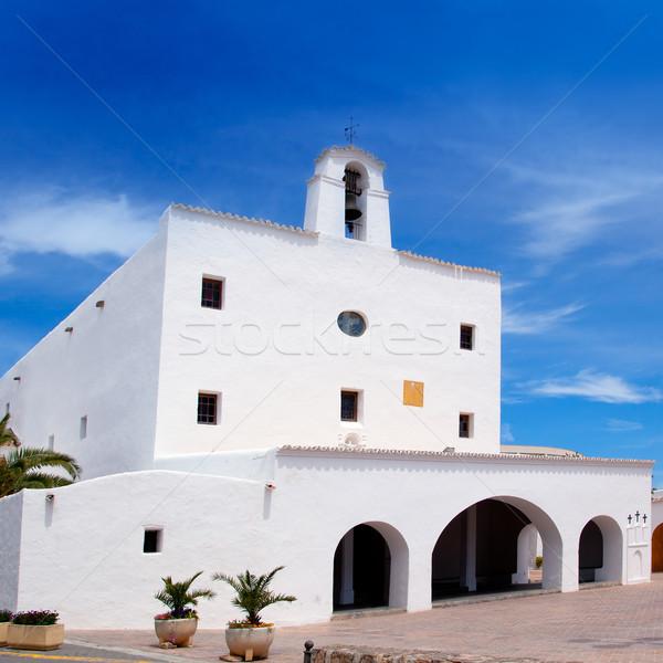 Ibiza Sant Josep de sa Talaia San Jose white church Stock photo © lunamarina