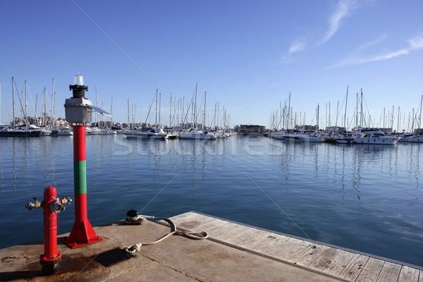 Tengeri jelzőtűz mediterrán tenger víz tűz Stock fotó © lunamarina