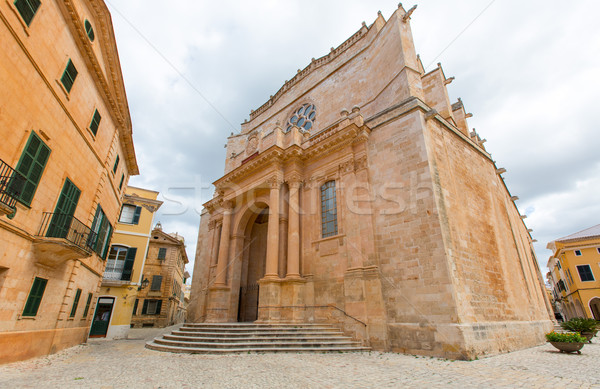 Ciutadella Menorca Cathedral at Ciudadela Balearic islands Stock photo © lunamarina
