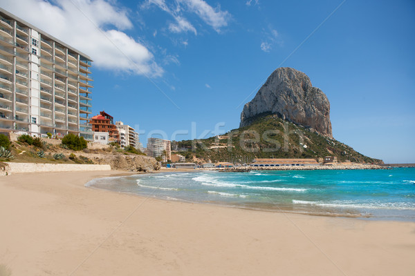 Calpe Alicante Arenal Bol beach with Penon de Ifach Stock photo © lunamarina