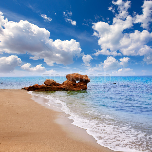 Spiaggia mediterraneo mare Spagna nubi sfondo Foto d'archivio © lunamarina