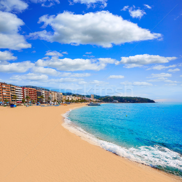 Lloret de Mar beach of Costa Brava Catalonia Stock photo © lunamarina