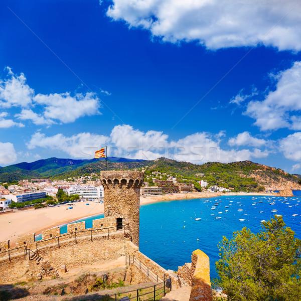 Tossa de Mar castle in Costa Brava of Catalonia Stock photo © lunamarina