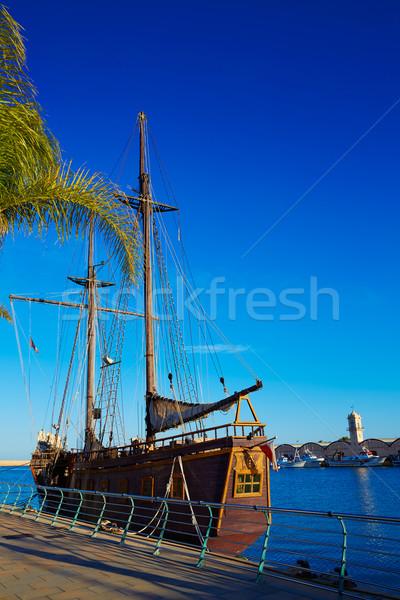 Gandia port promenade Mediterranean Valencia Stock photo © lunamarina