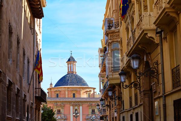 Valencia bazilika templom Spanyolország utca város Stock fotó © lunamarina