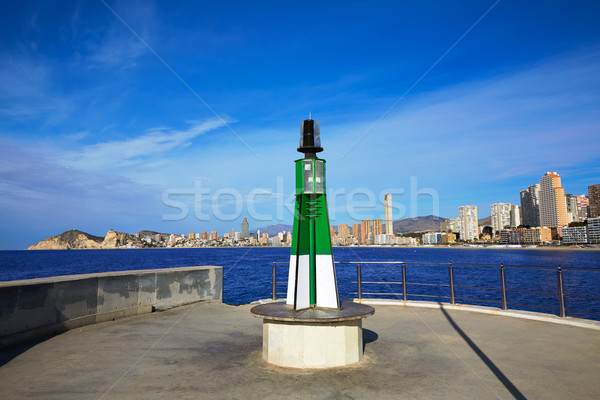 Benidorm Poniente beach in Alicante Mediterranean Stock photo © lunamarina