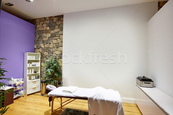 Massagem quarto tabela produtos stonewall beleza Foto stock © lunamarina