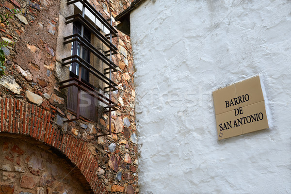 Caceres juderia saint Antonio barrio in Spain Stock photo © lunamarina