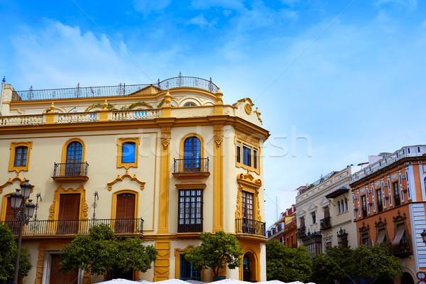 Seville Virgen de los reyes square Sevilla Stock photo © lunamarina