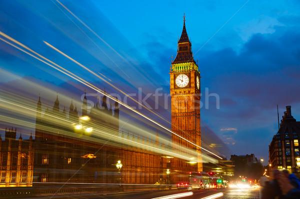 Big Ben clock torre Londra Inghilterra cielo Foto d'archivio © lunamarina