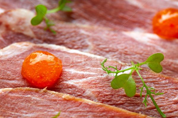 Domuz eti jambon sos gıda akşam yemeği Stok fotoğraf © lunamarina